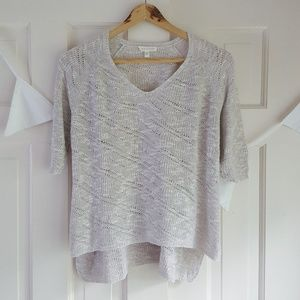 EILEEN FISHER Cropped Oatmeal Sweater